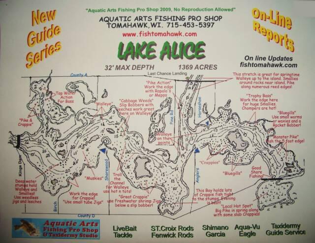Lake Maps - Wisconsin topographic lake maps